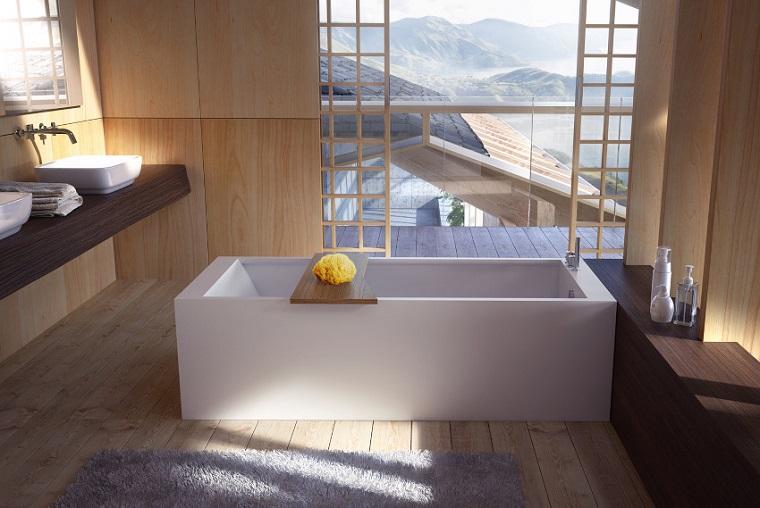 Cuarto de ba o con dise o moderno al estilo minimalista - Habitaciones estilo japones ...