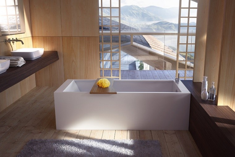 Baño Japones Moderno:baño japones moderno al estilo minimalista