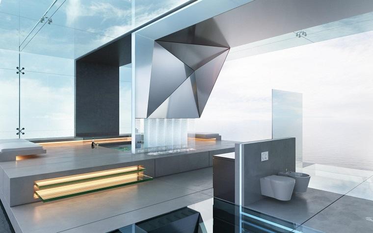 bano lujoso niveles amplio estilo minimalista ideas