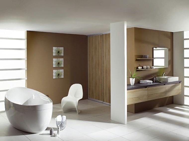 bano moderno banera blanca estilo minimalista ideas
