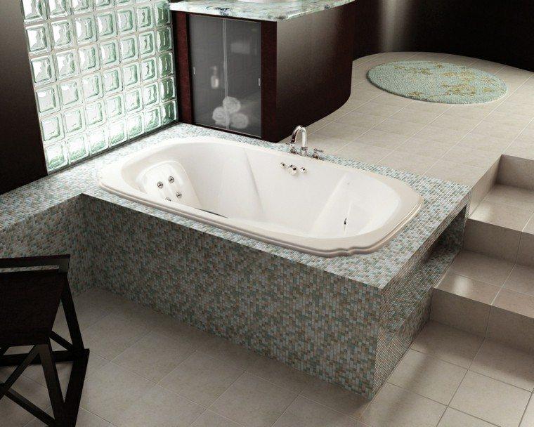 Baño Moderno Con Banera:Diseños de baños modernos: 50 ideas insólitas -