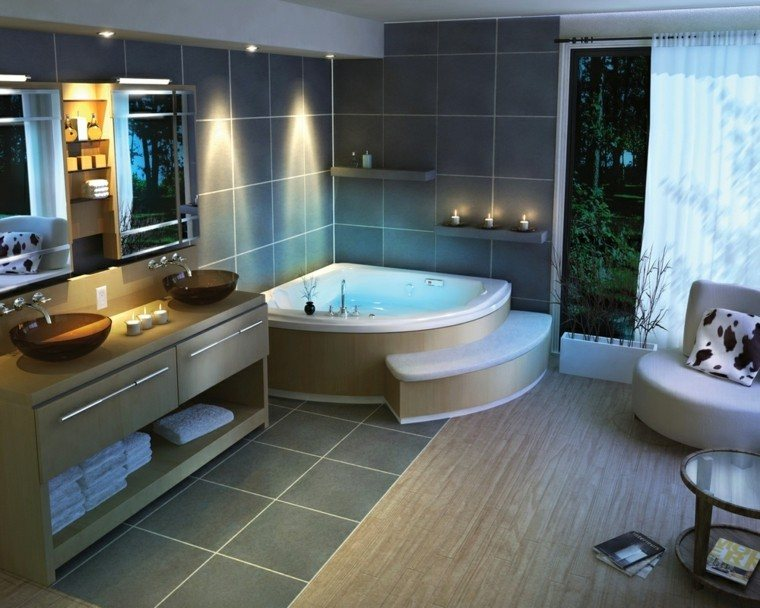 Diseno De Baño Con Jacuzzi:Diseños de baños modernos: 50 ideas insólitas -