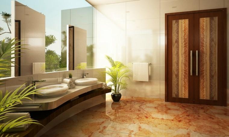 bano moderno estilo minimalista espejo grande ideas