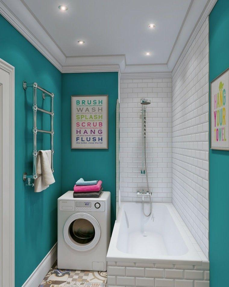 Baños Azules Pequenos:Vestidores pequeños – veinticinco ideas que le inspirarán