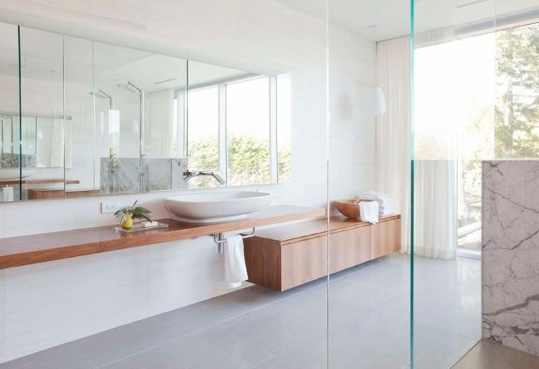 Ba os minimalistas modernos 100 ideas impresionantes for Que significa estilo minimalista