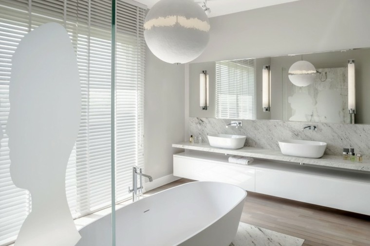 Ba os minimalistas modernos 100 ideas impresionantes for Mamparas banera ikea