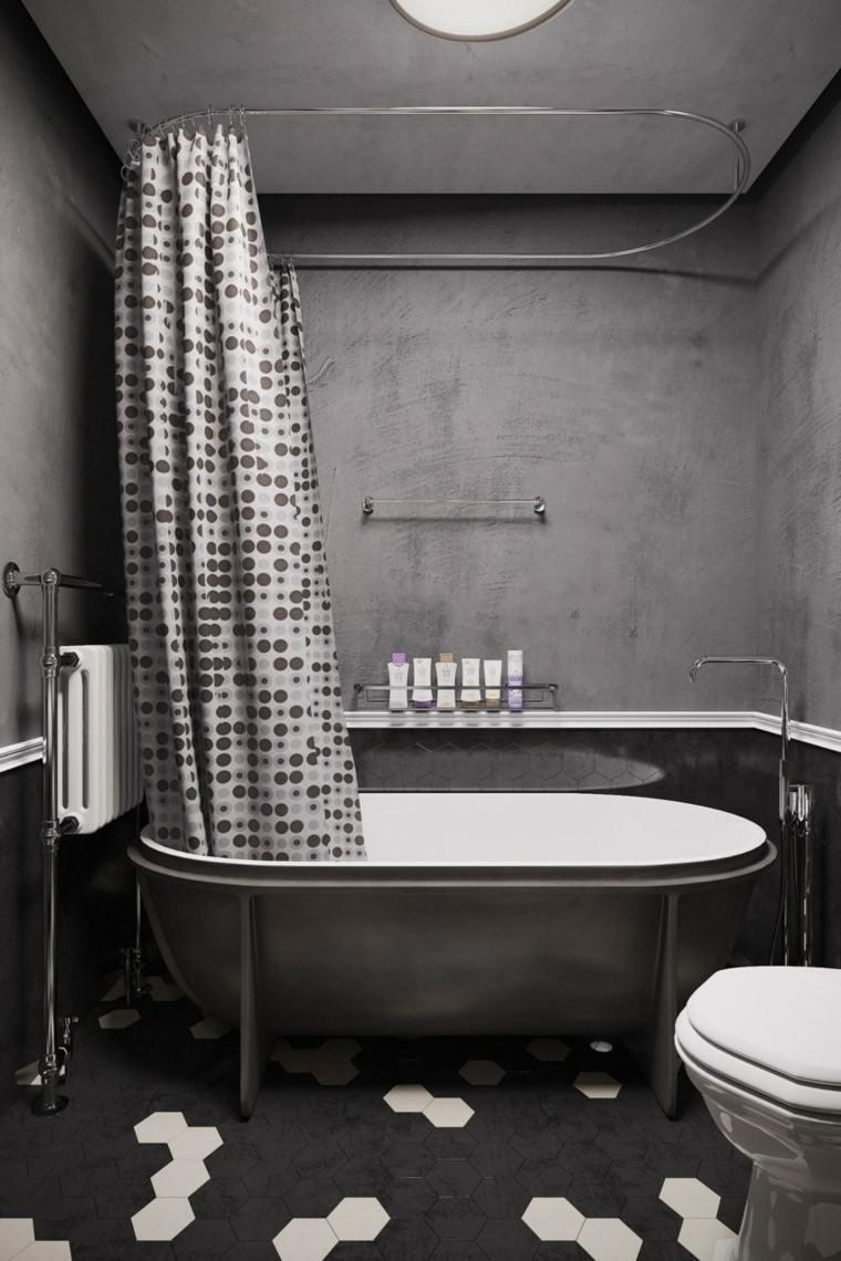 banos estilo minimalista moderno color negro banera ideas