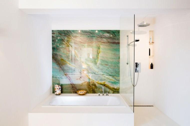 banos estilo minimalista moderno cuadro precioso pared ideas