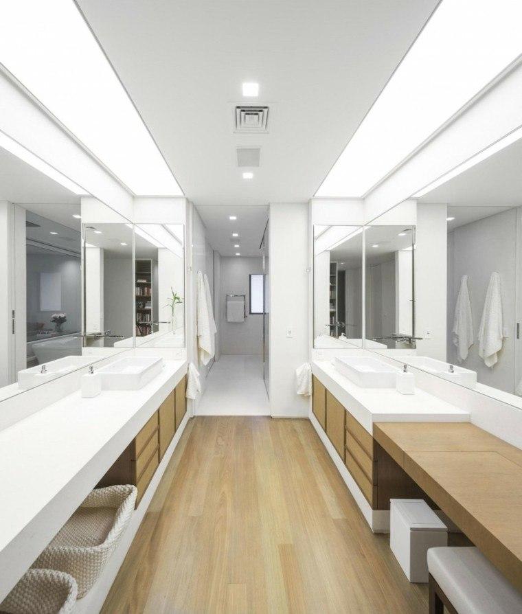 banos estilo minimalista moderno dos lavabos ideas