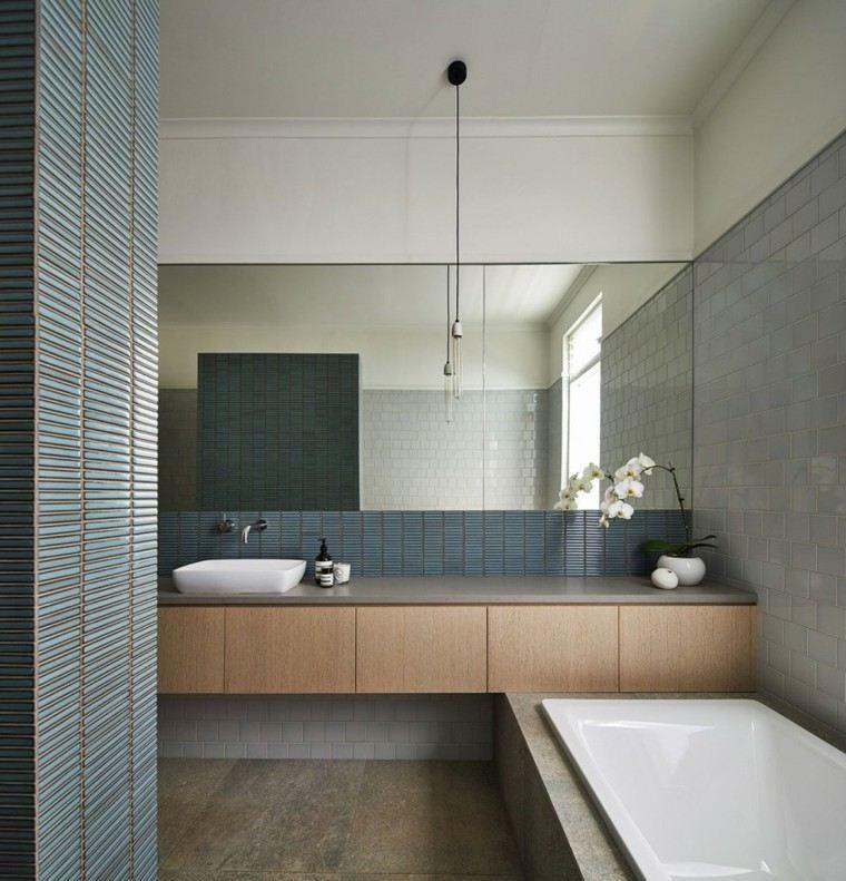 banos estilo minimalista moderno flor decorativa ideas