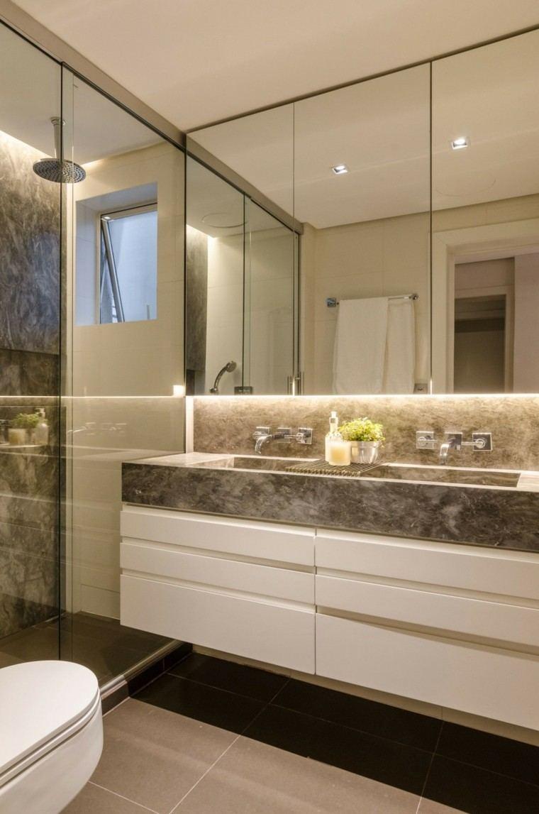 banos estilo minimalista moderno lavabo granito ideas