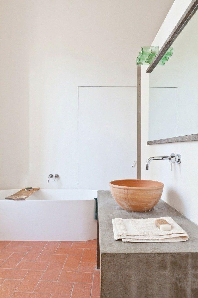 banos estilo minimalista moderno lavabo hormigon ideas