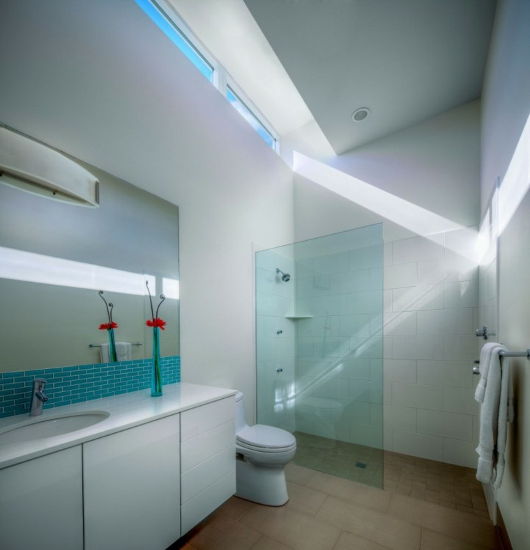 banos estilo minimalista moderno losas verdes ideas