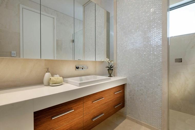banos estilo minimalista moderno mosaico brillante ideas