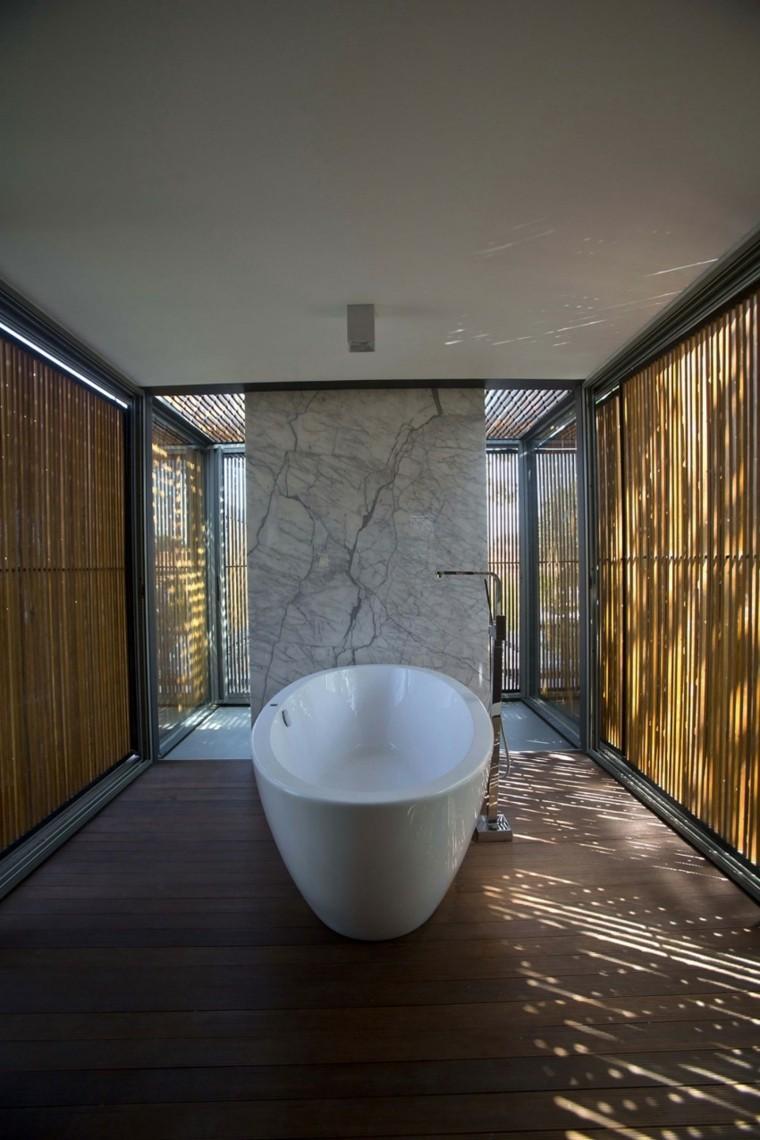 banos estilo minimalista moderno paredes madera ideas