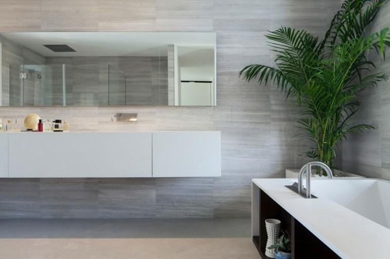 banos estilo minimalista moderno planta maceta ideas