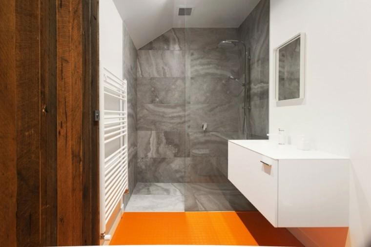 banos estilo minimalista moderno suelo narnaja ideas