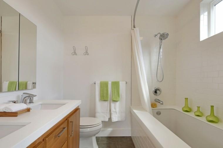 banos estilo minimalista moderno toques verde ideas