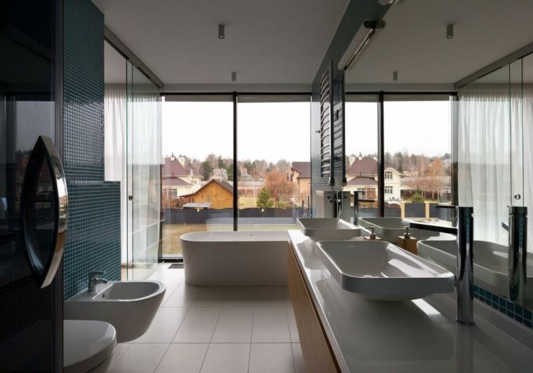 Ba os minimalistas modernos 100 ideas impresionantes - Cuartos de bano grandes ...