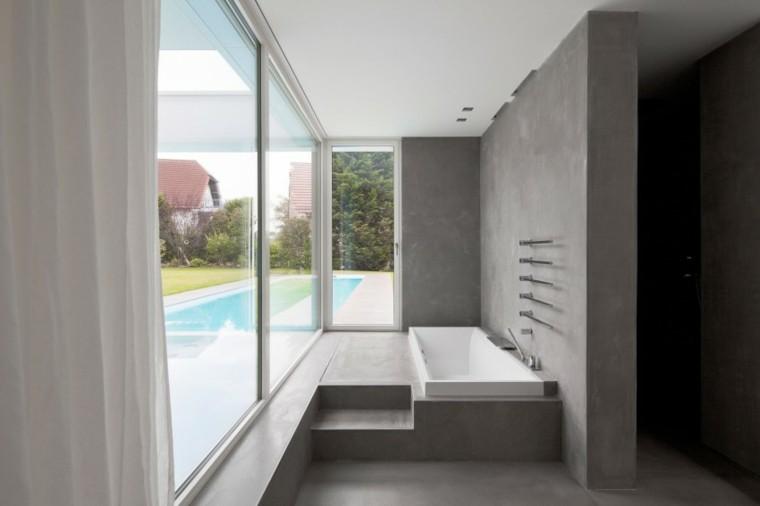 banos estilo minimalista moderno ventanas grandes ideas
