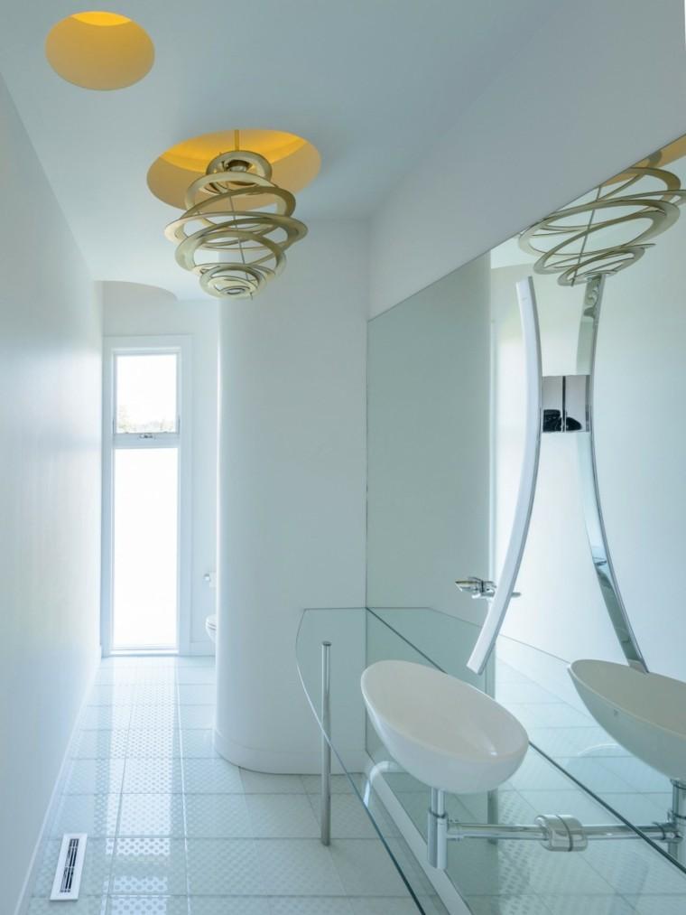 banos estilo minimalista modernos paredes losas blanca ideas