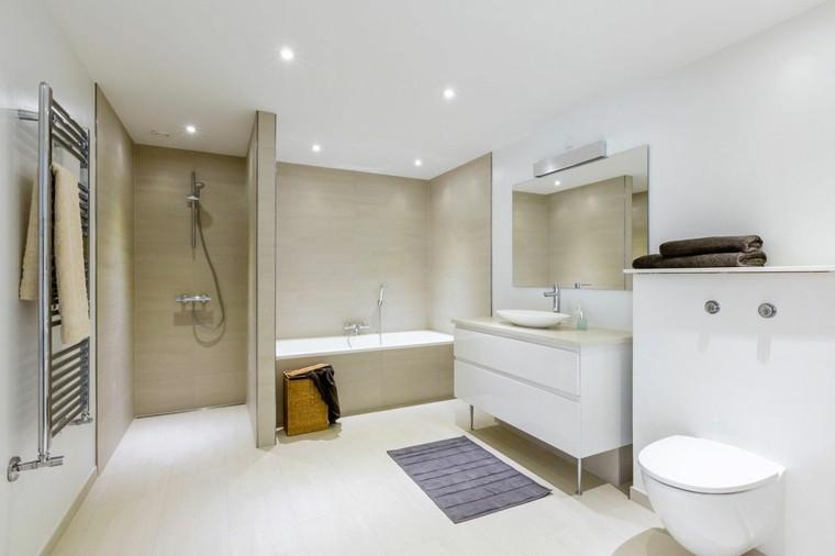 Ba os minimalistas modernos 100 ideas impresionantes Banos con ducha y banera