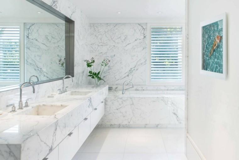 Ba os modernos marmol - Marmol para banos ...