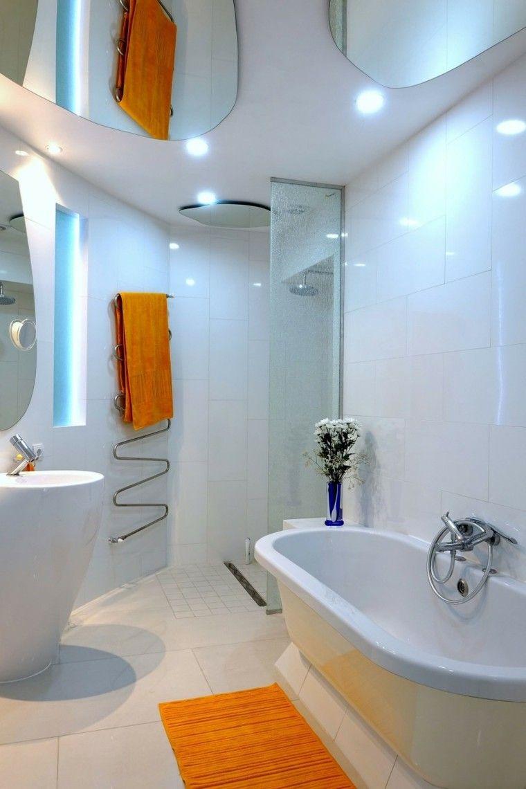 baños minimalistas modernos lavabo blanco precioso ideas