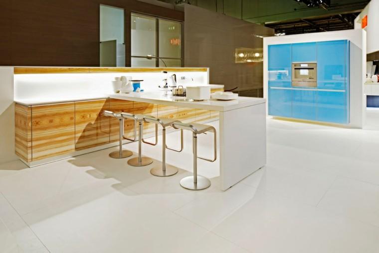 Barras de cocina de dise o moderno 50 ideas - Cocinas diseno moderno ...