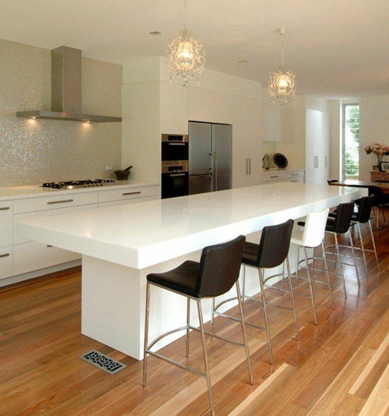 Barras de cocina de dise o moderno 50 ideas - Barra de bar para cocina ...