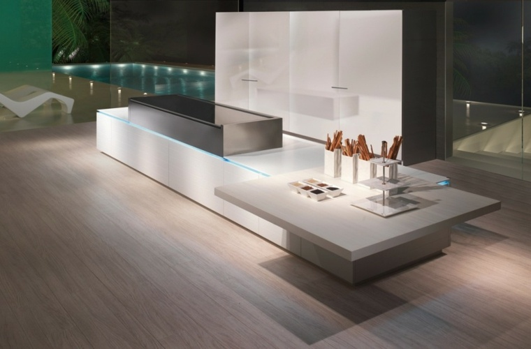barras de cocina estilo futurista