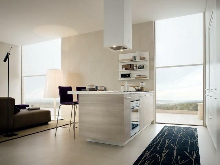 barras de cocina estilo minimalista beige