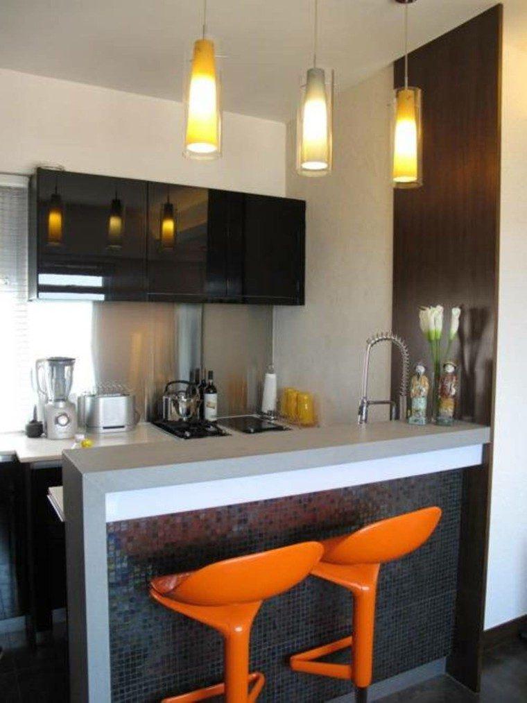 Barras de cocina de dise o moderno 50 ideas for Planos de cocinas con barra desayunadora