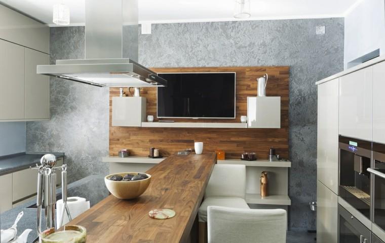 Barras de cocina de dise o moderno 50 ideas for Islas de madera para cocina