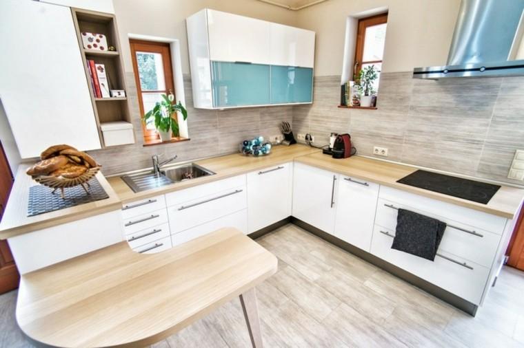 barra de cocina estilo nordica