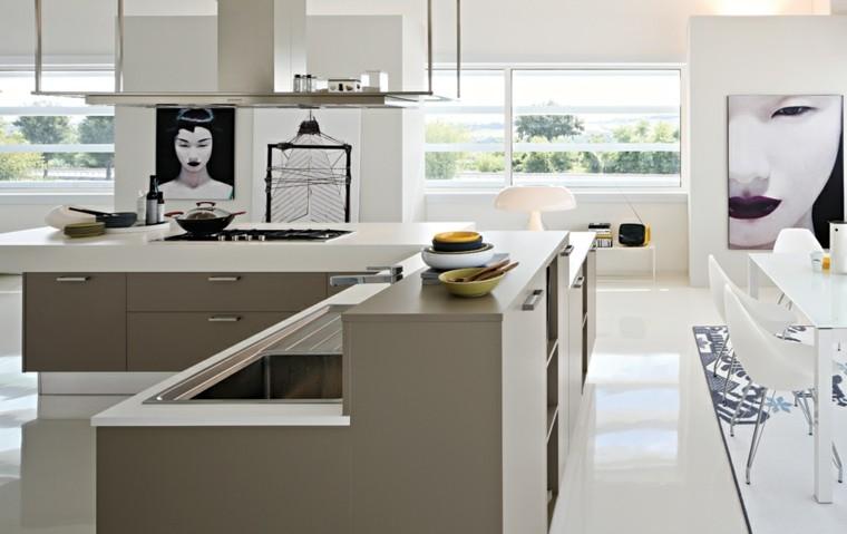 Barras de cocina de dise o moderno 50 ideas - Cuadros para cocinas modernas ...