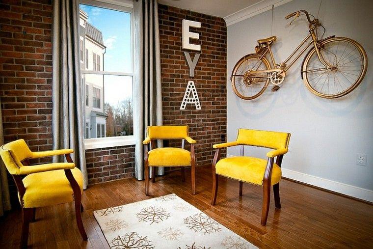 manualidades paradecorar tu casa bici dorada