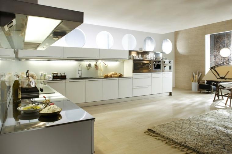 blanca moderna funcional cocina alfombra