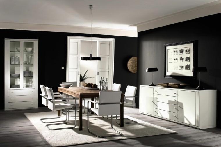 Blanco y negro para interiores 50 ideas inspiradoras - Blanco y negro paint ...