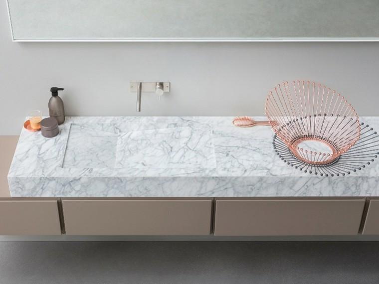 bloque marmol mueble lavabo largo
