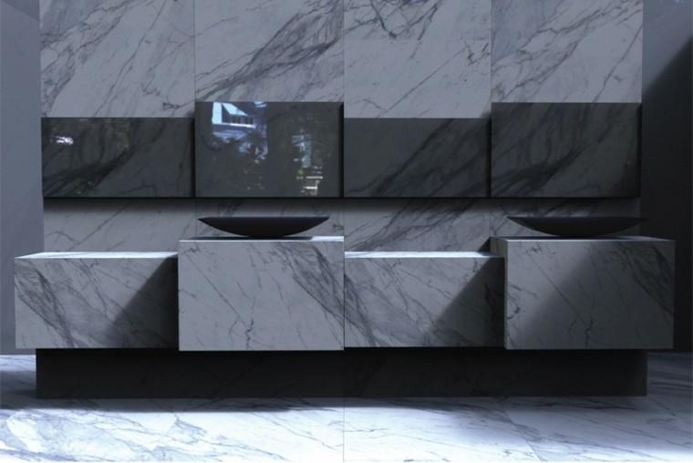 bloques marmol lavabo negro