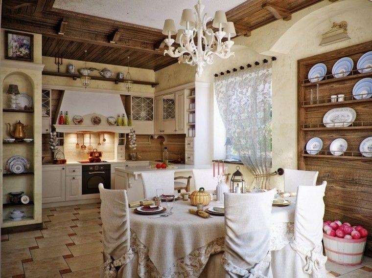 bonita cocina retro estilo rustica