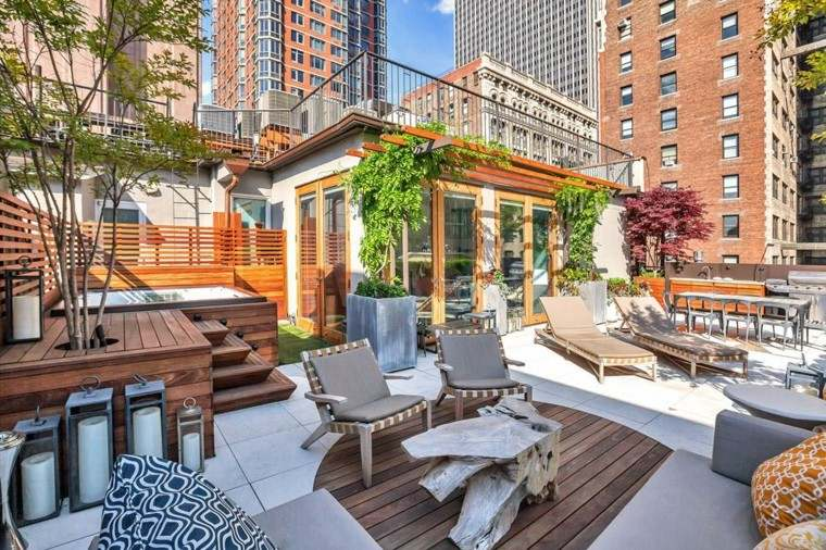 bonita decoracion terraza aticos muebles