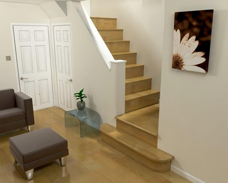 bonita decoracion escaleras madera laminada