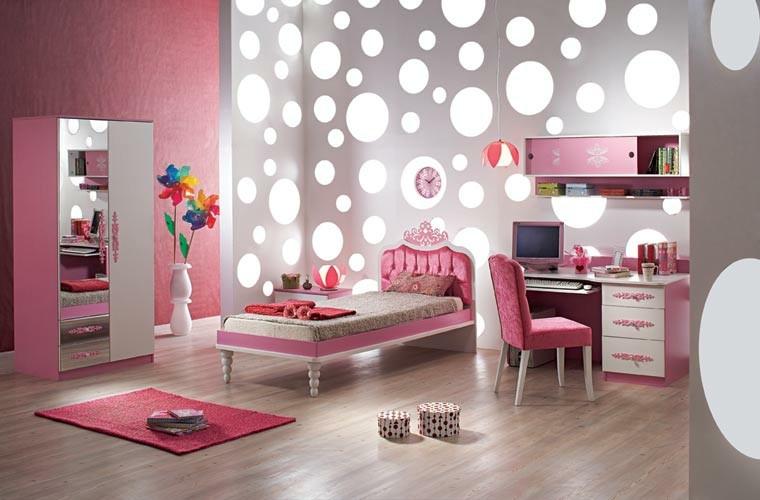 bonita habitacion juvenil chica rosa