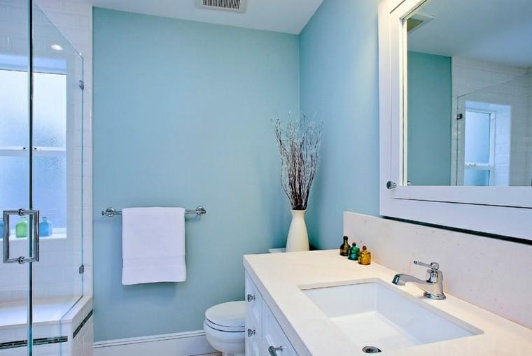 bonito baño diseño color celeste