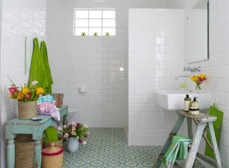 bonito baño estilo shabby chic