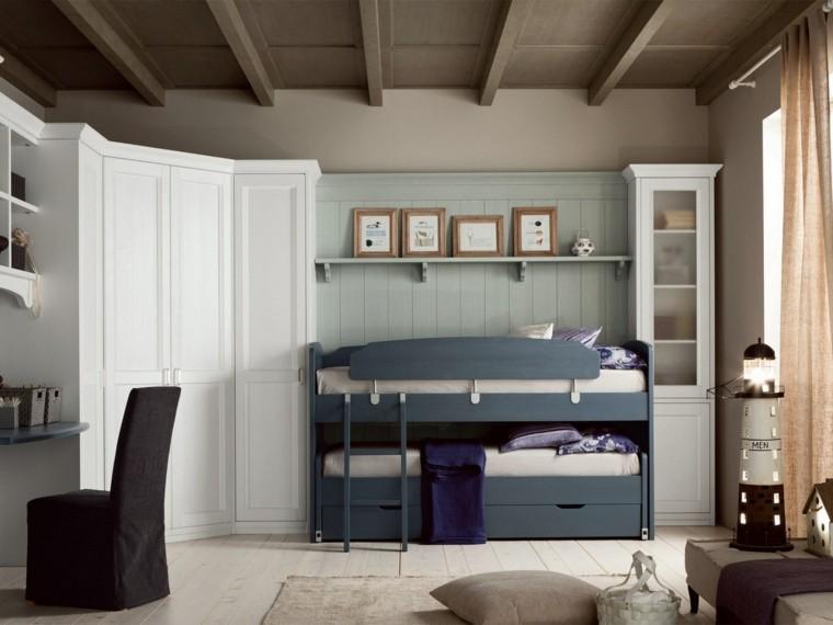 bonito cuartop cama azul nuovo mondo