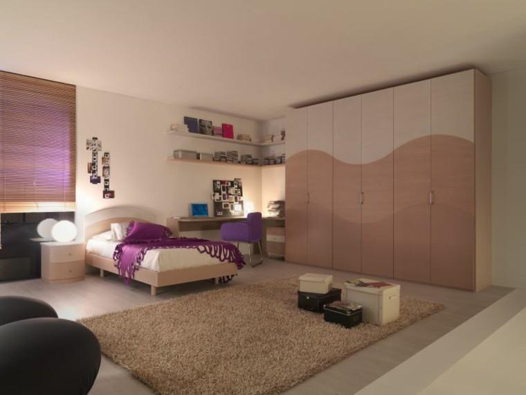 bonito diseño dormitorio chica lila