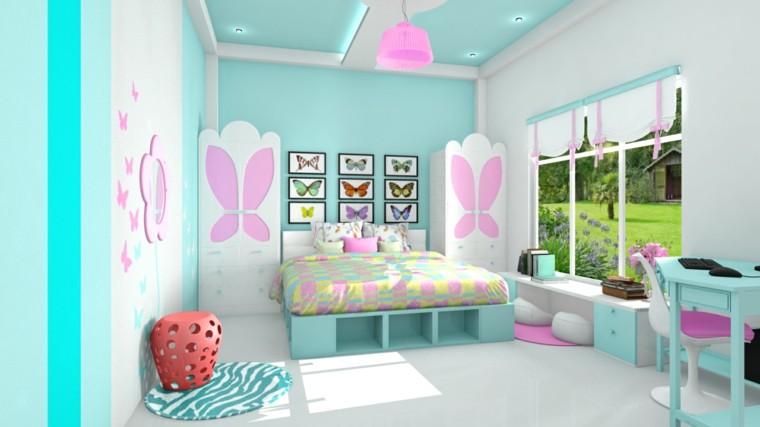 bonito diseño dormitorio infantil colores